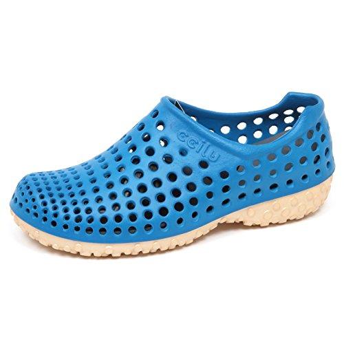 E8174 (Without Box) Sneaker uomo Rubber BLU CCILU Cell Sandal Slip on Shoe Man [9 US-42 EU]