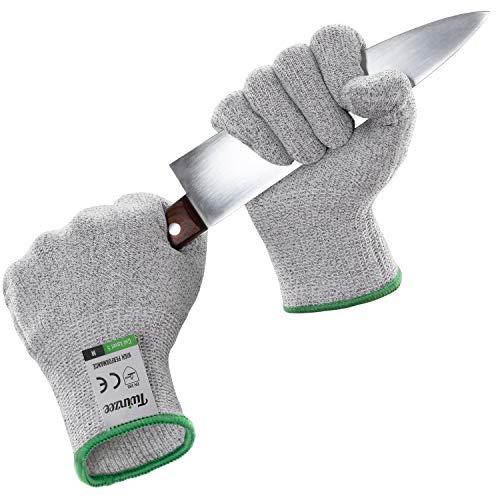 Twinzee Schnittschutzhandschuh - Extra Starker Level 5 Schutz, Lebensmittelecht, EN 388 Zertifiziert, 1 Paar (Small)