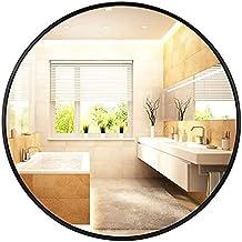 Badkamerspiegel, aluminium spiegel, ronde make-upspiegel, toiletglas, wastafel spiegel, muur opknoping spiegel (Color : Bl...