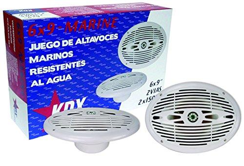 KDX-Audio 6x9-Marine - Juego de Altavoces para embarcaciones, Color Blanco