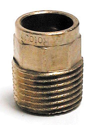 Sanitop-Wingenroth 11532 2 Rotguss-Übergangsnippel Nummer 4243G, 1 Stück, 15 mm x 1/2 Zoll AG