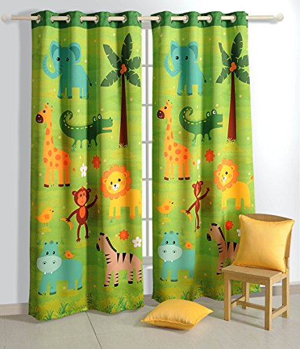 Blackout Safari Fun- Set of 2 Curtain Panels  48 Inch x 60 Inch