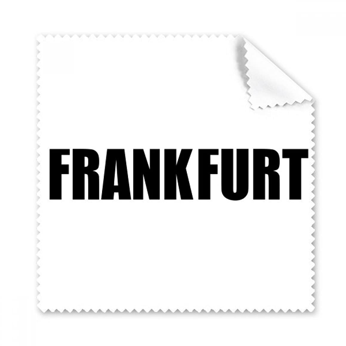 Frankfurt Germany City Name Glasses Cloth Cleaning Cloth Phone Screen Cleaner 5pcs Gift