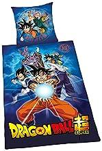 Herding Dragon Ball Super - Juego de Cama (Funda nórdica de 135 x 200 cm y Funda de Almohada de 80 x 80 cm, algodón)