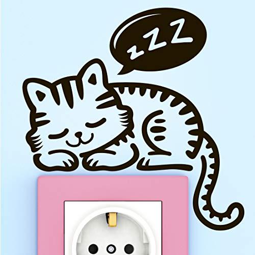 Katt väggklistermärke konst dekal ljusströmbrytare eluttag dekor sovrum barn kök katter klistermärken tapet dekal vardagsrum lampa affischer bil toalett badrum överföringar väggmålning heminredning djur fönster