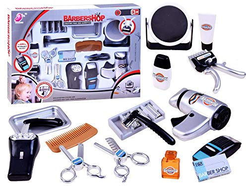 BSD Kinder Rollenspiel - Barbershop Friseur Spielset - Haar Dresser Set mit Zubehör