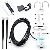 Cell Phone Signal Booster Amplifier Repeater GSM 900MHz Mobile 2G 3G 4G + boosts Voice Data Yagi Antenna Kits for Home and Office Use, Support 150 Square Meters Area Easier Install