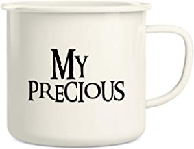 Retreez My Precious Coffee Tea 16 Oz Enamel Stainless Steel Metal Camping Campfire Coffee Mug Cup - Funny Sarcastic Motiva...