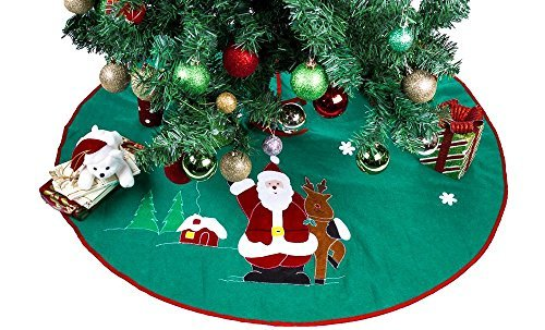 Imperial Home Christmas Tree Skirt 36' - Green With S
