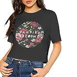 JENNASTOLZZ Womens Vampire Weekend Logo Cute Music Band Short Sleeves Lumbar Tshirts M Gift Black