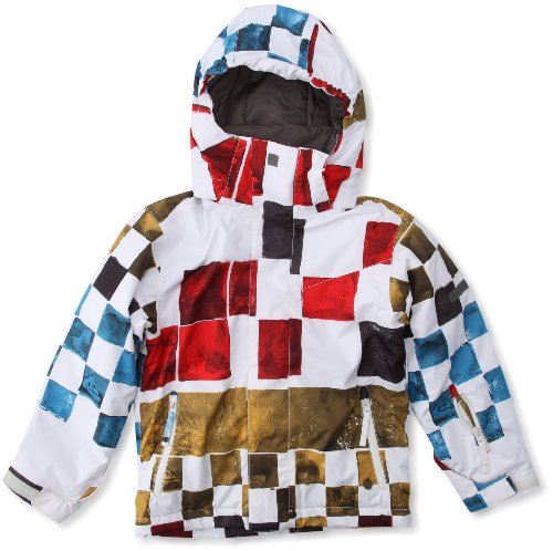 Quiksilver Jungen Snowboard Jacke Next Mission Printed Yout, dna snow tomato, 176 /16 Jahre, KPBSJ033-011-T16