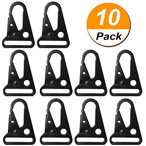 "Zanzpc 10 Pcs 1"" Enlarged HK Clips Hooks for Paracord Sling Outdoors Bag Backpack,Mini Carabiner Keychain Snap Hooks for Outdoor Bag Backpack Rifle Gun Sling Webbing"