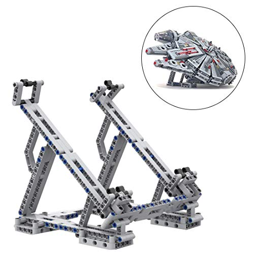 FenglinTech Vertical Stand for Lego Star Wars Ultimate Millennium Falcon 75257 Building Kit (Lego Set Not Included, 3rd Party Lego Accessory)