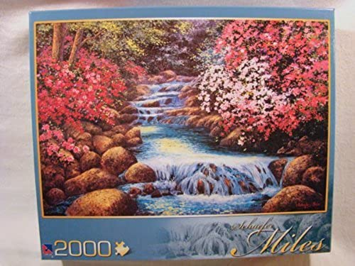 Schaefer Miles 2000 Piece Jigsaw Puzzle  Tranquil Waterfall by Sure-Lox