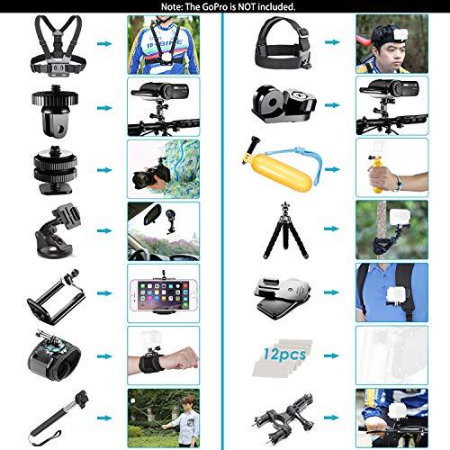 Neewer 21-in-1 Action-Kamera Zubehör-Kit für GoPro Hero 6 5 4 3+ 3 2 1, Hero Session 5 Black AKASO EK7000 Apeman SJCAM DBPOWER AKASO VicTsing Rollei - 2