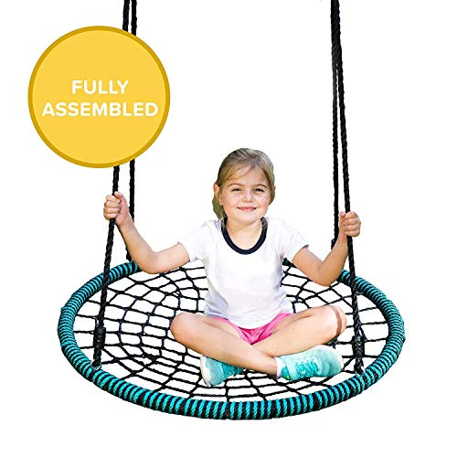 Play Platoon Spider Web Tree Swing - 40 Inch Diameter, Fully Assembled, 600 lb Weight Capacity, Easy...