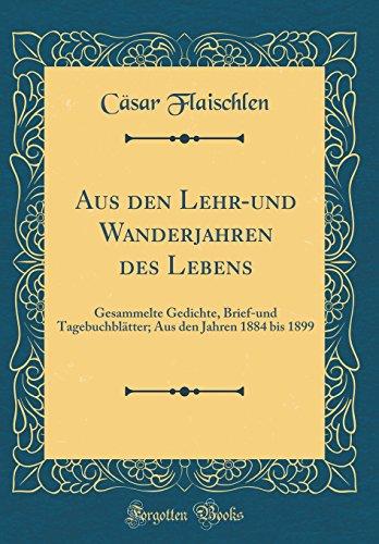 Aus den Lehr-und Wanderjahren des Lebens: Gesammelte Gedichte, Brief-und Tagebuchblätter; Aus den Jahren 1884 bis 1899 (Classic Reprint)