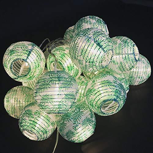 Gresonic Led-lichtsnoer, 20 stuks, lampion/lantaarns, decoratie voor tuin, Kerstmis, party, bruiloft, binnen en buiten, met stekker