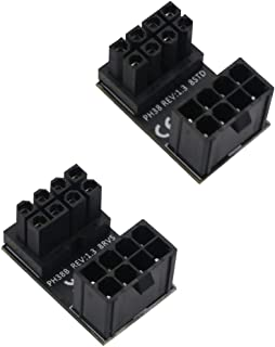 ATX 8Pin Female to 8pin Male 180 Degree Angled Adapter for Desktops Graphics Card