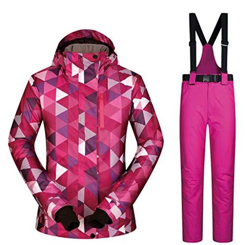 Zlw-shop Schneeanzüge Skianzug Winterbekleidung Winter Outdoor Ski Wear Anzug Bergsteigen Bekleidung Einzel- und Doppelbrett Skihose wasserdichte Ski-Jacken-Hosen-Set Windsicher Skianzug