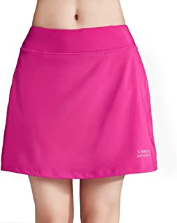 CAMELSPORTS Women's Active Athletic Skort Lightweight Skirt with Pockets Shorts for Running Tennis Golf