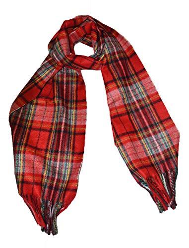 Vellutto Italienischer Designer-Schottenkaro-Schal mit Schottenmuster Navy - Tartan Schals für Männer, Frauen