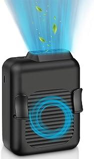 【2020最新型】ミニ 首掛け扇風機 USB充電式 携帯扇風機 腰掛扇風機 小型 ベルトファン 大容量4000mAh 最大12時間動作 静音 3段階調節 両手解放 アウトドア/屋外作業/旅行に適用 熱中症対策 日本語説明書付き