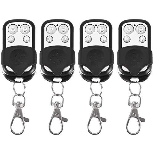 Fydun Telecomandi Clonazione Telecomand 4pz Universal Control Key Fob 12V Senza fili per Cancello Porta Garage Auto 433 mhz