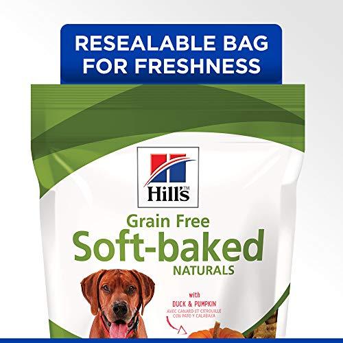 Hill's Ideal Balance Grain Free Dog Treats, Soft-Baked Naturals with Duck & Pumpkin Soft Dog Treats, Healthy Dog Treats, 8 oz Bag