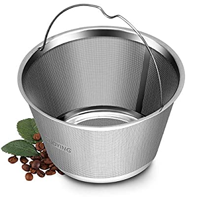 4-5 Cup Reusable Permanent Basket Coffee Filters, Coffee Filters 4 Cup, Perfect Fit Mr Coffee Coffee Makers and Brews, Replace 4 Cup Mr Coffee Gold Tone Coffee Filters