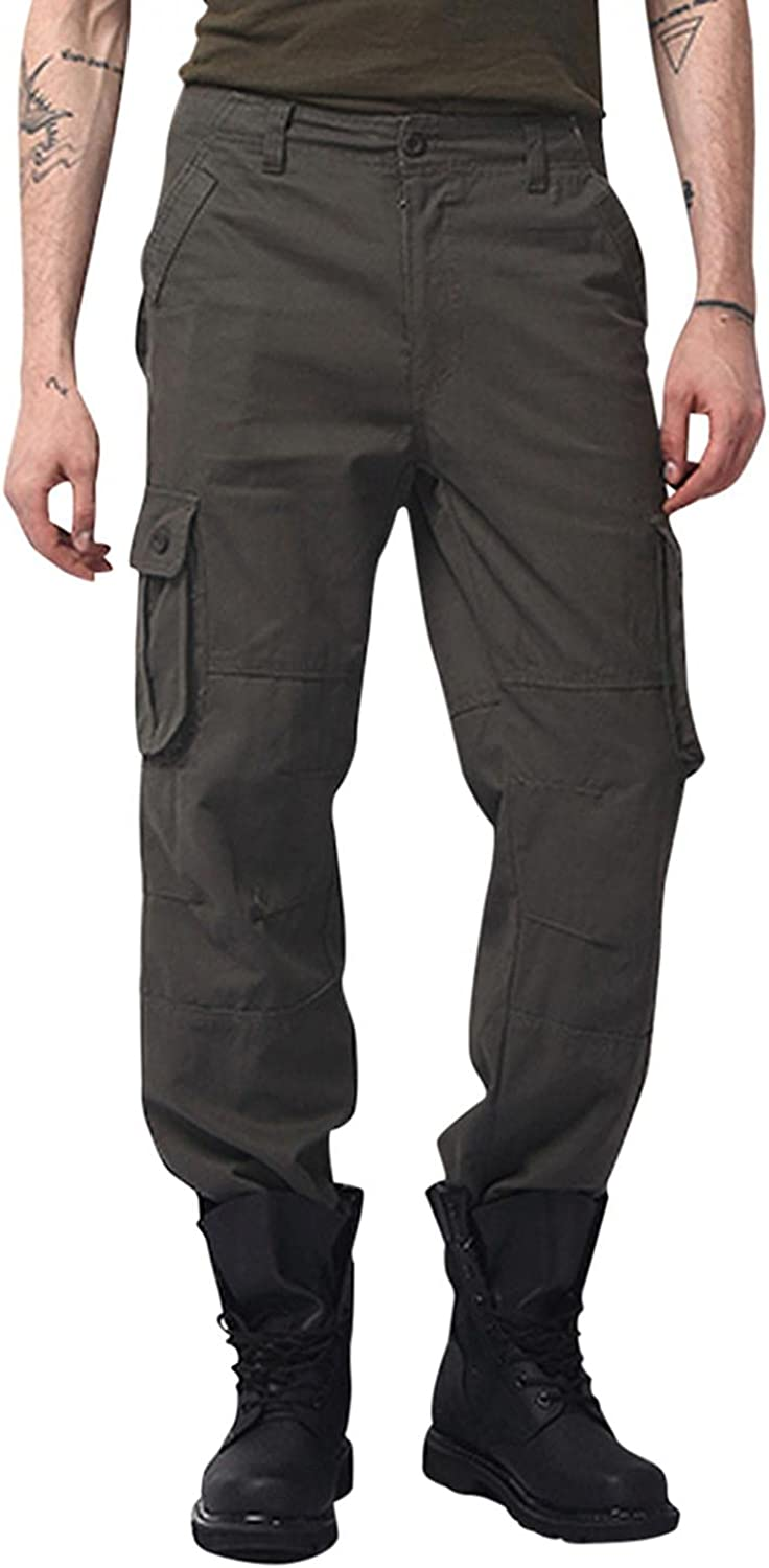 Burband Mens Fit Flat Front Chino H Pants Tactical Award-winning store Work Military Max 65% OFF