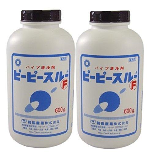 和協産業 ピーピースルーF 2本セット(配管洗浄剤、強力パイプクリーナー)[600g×2本]