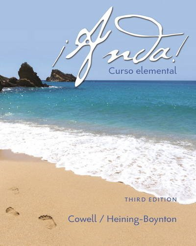 Compare Textbook Prices for ¡Anda! Curso elemental 3 Edition ISBN 9780134146775 by Cowell, Glynis L.,Heining-Boynton, Audrey L.