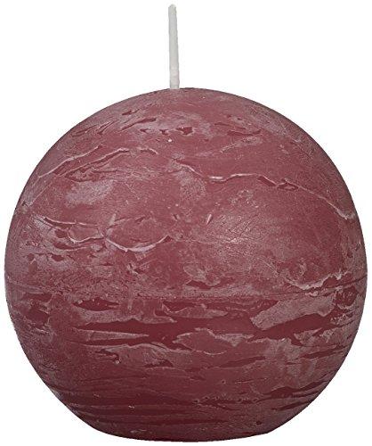 Rustique Bougie Boule, Cire de Paraffine, Vieux Rose