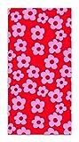 Agatha Ruiz de la Prada Tapis du Sol Impressions de Base Fleurs Roses et Rouges 140x200cm - Tapis de Cuisine en PVC Linoléum Vinyle - Antidérapant Lavable Ignifuge - Tapis pour Cuisine Bureau Salon
