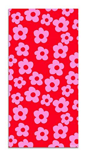 Agatha Ruiz de la Prada Alfombra Vinílica Estampados Básicos Flores Rosas y Rojos 40x80cm - Alfombra Cocina Vinilo - Alfombra Salón Antideslizante e Ignífuga - Alfombras Grandes - Alfombras PVC