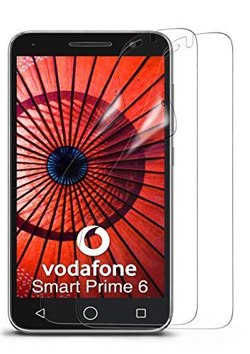 MoEx® Kristallklare HD Schutzfolie passend für Vodafone Smart Prime 6   Premium Bildschirmfolie - Kratzfest & Fast unsichtbar - Ultra Klar