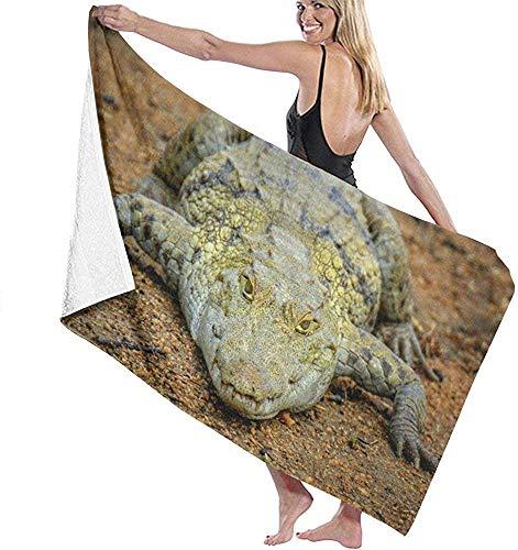 Edmun Mikrofaser Strandtuch Krokodil Alligator Tier Badetuch Stranddecke Quick Dry Handtuch für Camping Camping Gym Sport 80 * 130 cm