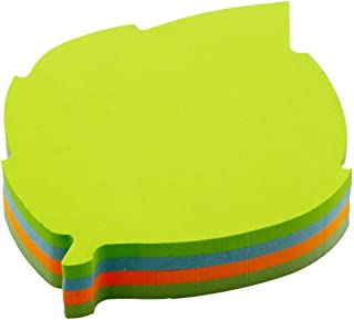 Cute Modeling Post It Notes-4 Colors Self-Stick Notes-Writable Tape Flags-140 Sheets Memo Label Paper Leaves