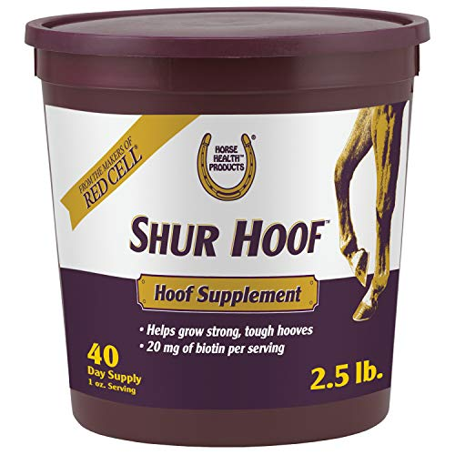 Horse Health Shur Hoof Hoof Supplement for Horses, Helps Grow Strong, Tough Hooves, 2.5 Pound, 40 Day Supply