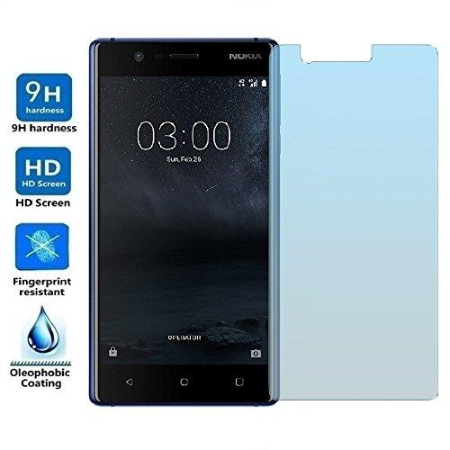 REY Protector de Pantalla para Nokia 3, Cristal Vidrio Templado Premium