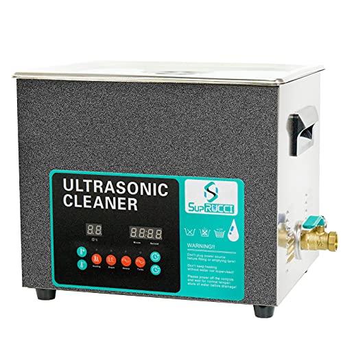 Supruci - Limpiador ultrasónico de piezas ultrasónicas digitales de 10 L, 28 kHz/40 kHz, con calefacción de 300 W, limpieza profesional para piezas de prótesis PCB de joyas
