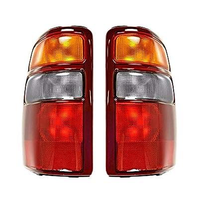 Epic Lighting OE Style Replacement Rear Brake Tail Lights for 2000-2003 Chevrolet GMC Suburban TahYukon Yukon Denali [ GM2800143 GM2801143 19168990 19168991 ] Left Driver & Right Passenger Sides Pair