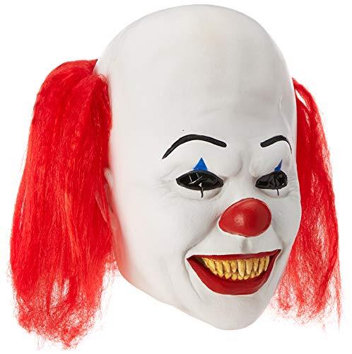 Rubie's, offizielle Pennywise-Deluxe-Maske mit Clown-Perücke, Es, Universalgröße, Mehrfarbig