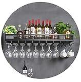 YZ-YUAN Supports à vin durables Support Mural Support de Verre à vin de Type Plafond en métal Support à gobelet à l'envers réglable en Hauteur Support d'application de décoration de Style Vintage