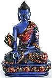 BUDDHAFIGUREN Estatua de resina de Buda de medicina - 13.5 c