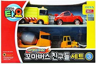 ICONIX - Juego de 4 juguetes especiales de Little Bus TAYO FRIENDS