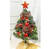 ZZPP Pequeño árbol de Navidad con Luces,Mini árbol de decoración de Escritorio,árbol de Navidad de Mesa,árbol de Navidad de Pino en Miniatura con Adornos Colgantes (40 cm / 60 cm