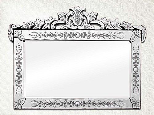 Indian Shelf 1 espejo veneciano vintage de cristal multicolo