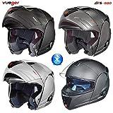 RS-980 Klapphelm Motorradhelm Bluetooth Conzept Motorrad Modular Roller Helm, Größe:M (57-58),...
